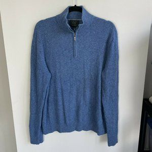 Qi Cashmere Long Sleeve Quarter Zip Pullover XL